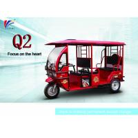 60V 1000W Electric Open Passenger Motor Tricycle 2800*1160*1760 Mm Manufactures