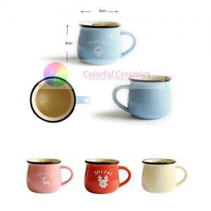 Wholesale trade Breakfast ware ceramics 300ml ceramic mug coffee cup milk mug cute mug decal Manufactures