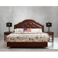 Quality Leather / Fabric Upholstered Headboard Bed for Hotel Bedroom interior Furniture for sale