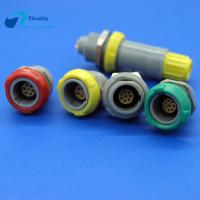 3 Pin Plastic Circular Connectors Female Push Pull Socket For PCB Welding Manufactures