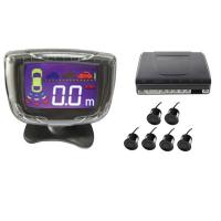Black Color Car Reverse Parking Sensor Backup Radar System With Sounds Alarm Manufactures