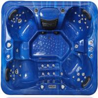 Outdoor Hot Massage Tub 4 Person With Bluetooth , Wifi , Music Speakers Manufactures