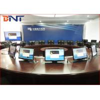 Commercial Meeting Table Motorized Pop Up Lift For 19 - 24 Inch LCD Screen Manufactures