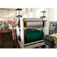 China Exterior Wall Cladding PVC Profile Extrusion Machine Double Screw 1 Year Warranty on sale