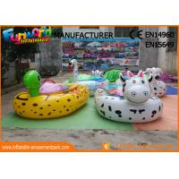 Cartoon Shape Animal Motored Inflatable Boat Toys , Adult Electric Bumper Boat