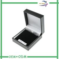 China Matte Black Paper Gift Box Luxury Jewelry Gift Packaging Foil Stamp on sale