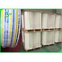 China FDA Ink Striped Straw Paper 100% Chemical Free Recyclable 60gsm 120gsm on sale
