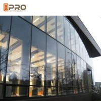 Tempered Glass Aluminium Curtain Wall With Logo And Pattern Printed Manufactures