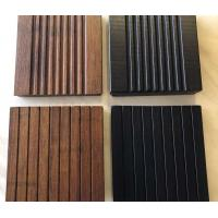 Interlock Natural Bamboo Flooring , Timber Wood Flooring 21 Mm For Bathroom Manufactures