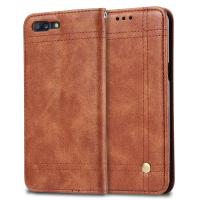 Oneplus 5 Cell Phone Leather Wallet Case Book Cover With Retro Line Full Protection Manufactures