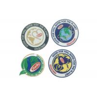 China Custom Iron On Clothes Adhesive Embroidered Patches Laser Cut Border on sale