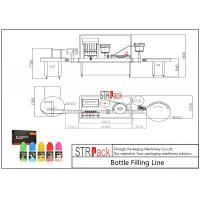 10ml-100ml E-Liquid Bottle Filling Capping Machine And Labeling Packing Line With Piston Pump Manufactures