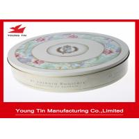 Round Cookie Packaging Metal Gift Tins Box  0.23 MM Full Color Printed ISO 9001 Manufactures