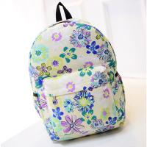 China green flower canvas backpack messenger bags wholesale купить рюкзак mochilas por mayor on sale