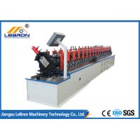 White Color Metal Stud And Track Roll Forming Machine UC Channel With H Punching Manufactures