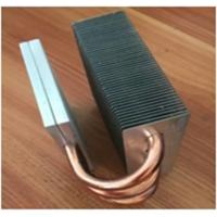 OEM Fin Copper Heat Sink Customized Copper Pipe HeatSink For Passivite Surface Mount Device Manufactures