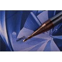 Carbide Ball Nose End Mill , 2 Flute , Ultra Fine Grain Size , TiSiN Coating  R0.5  1mm