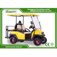 EXCAR yellow CE Approved 48V Trojan Battery Powered Electric Golf Cart Yellow Colour Manufactures