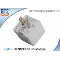 White Eco - Friendly 5V 1A US Plug Universal USB Power Adapter Wall Mount Power Adapter Manufactures