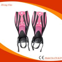 Lightweight Kids Swimming Flippers , Comfortable Travel Swim Fins Manufactures