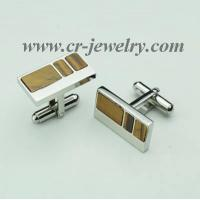 China Stainless Steel Tiger Eye Cufflinks on sale
