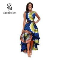 Sleeve Less Fashion Female Beautiful African Print Dresses Eco - Friendly All Over The World Manufactures