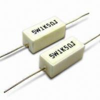 Quality Fixed Wirewound Resistor in Cement Type, with 15 to 1,000V Maximum Working Voltages for sale