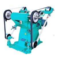 China Big Power Sand Belt Grinding And Polish Machine With Two Cloth Wheel on sale