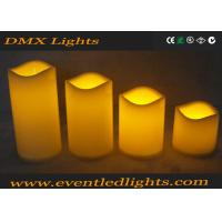 Moving Wick Flickering Led Candles , Yellow / White Led Votive Candles Manufactures
