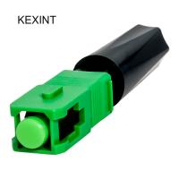 Quality Fast Connector Fiber Optic 55mm SC APC Single Mode Fiber Connectors Couplers 10N for sale