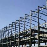 Q345B  Garage Steel Frame Grey Color Paint, Industrial Garage 5000 square meter Manufactures