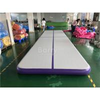Commercial Inflatable Air Track / Purple Air Jump Tumble Trak For Gymnastics Sport Manufactures