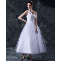 Elegant Heart Shaped tea length wedding dresses gowns in S M L XL XXL size Manufactures