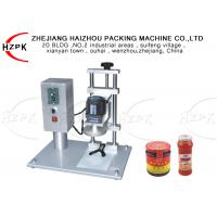 450B Electrical Semi Automatic Bottle Capping Machine For Glass Jar / Metal Cap Manufactures
