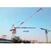 12tons D5030 Luffing Tower Crane 50 meters Lifting Jib Lenght 3.0t End Load Manufactures