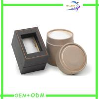 China Small Unique Cardboard Jewelry Gift Boxes With Clear Window On Lid on sale