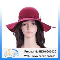 New products 2015 wool felt wide brim floppy hat for ladies Manufactures