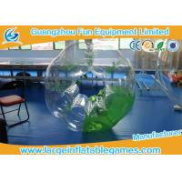 Green Half Color Adults Inflatable Bubble Ball Heat sealed For Soccer Bubble Club Manufactures