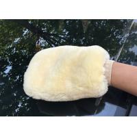 China Genuine Sheepskin Car Wash Mitt Double Side Wool Wash Mitten for Car Detailing on sale