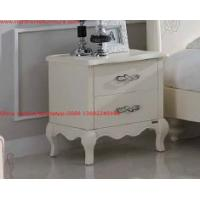Quality Ivory Classic Bed side table with wooden drawers for Nightstand design used by Hotel and Villa Furniture for sale