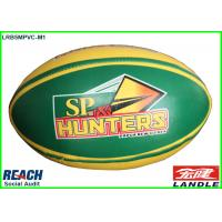 Machine Stitched Customized Size 5 Rugby Balls in PVC Synthetic Leather Manufactures