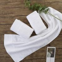 Factory price white luxury hotel towels 35*75cm cotton terry towel Manufactures