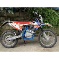 China 4 Stroke 200cc Dirt Bike Air Cooling , Off Road Motorcycle In Red Color on sale