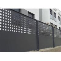 Slip Resistance Architectural Perforated Metal Panels Aesthetic Appeal For Residential Perimeter Fence Manufactures