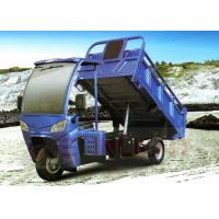 200cc New 3 Wheel Tricycle Dump Truck With Cabin Shed Gasoline Self Unloading Hydraulic Lift Manufactures