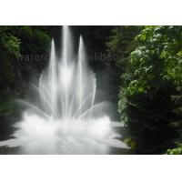Ornament Watercolor Floating Water Fountains With Flowers Shape CE Approval Manufactures