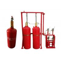 Red Color FM200 Fire Suppression System 70l , 100 , 120l Capacity Manufactures