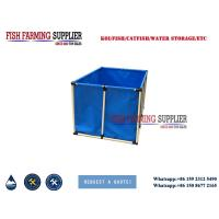 China 2000L Flexible Square 5000L Fish Farming Tank Indoor and Out Door Using Water Storage Tank on sale