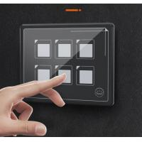 China 12V 24V Capacitive Touch Screen Switch Panel 6 Circuit Light Car Marine Boat Circuit Control Box LED Car Crystal Glass P on sale