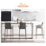Dark Walnut Modern Bar Chairs Breakfast Bar Stools With